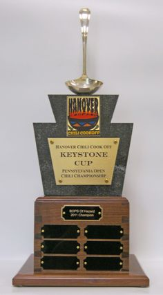 PA Keystone Cup Trophy from the Hanover Chili Cook Off