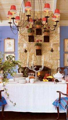 Lake Austin Spa Resort, Austin, Texas. Love the design and the fresh blue paint.