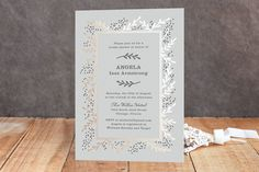 """""""Gilded Branches"""" - Elegant, Floral & Botanical Foil-pressed Bridal Shower Invitations in Cloud by Laura Hankins."""