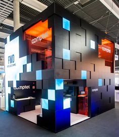 Comptel exhibition stand @ Mobile World Congress Tomexpo role: Production Signage Design, Facade Design, Architecture Design, Exhibition Stand Design, Exhibition Space, Print Advertising, Advertising Campaign, Print Ads, Guerrilla Marketing