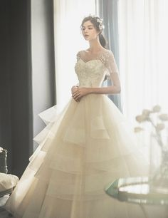 This classic ball gown from J Sposa Wedding bursting with ultra-chic elements! » Praise Wedding Community