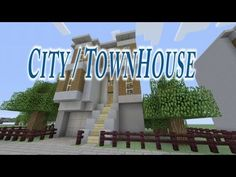 Let's Build a City House in Minecraft - YouTube