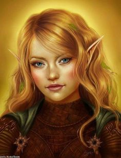 It said elf when I found it but the roundness of her face reminds me of a pretty halfling instead.