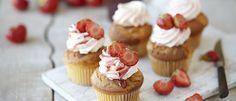 Aardbei en citroen cupcake - Klik hier