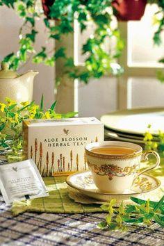 www.aloepassion.flp.com Aloe Blossom Herbal Tea e a mistura natural de folhas, plantas e especiarias, especialmente preparadas para fornecer um sabor e um aroma excepcional.