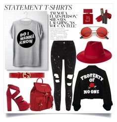"""""""Untitled #71"""" by mad-redhead ❤ liked on Polyvore featuring River Island, MKF Collection, Gucci, Brixton, ZeroUV and Bella Freud"""