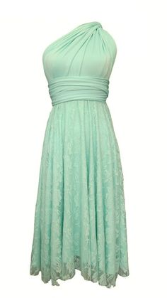 Pastel Green Party Dress