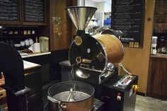 A coffee roaster displayed in the cafe for all to see. Pretty cool.