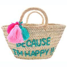 POMPON EMBROIDERED BASKET - BECAUSE I'M HAPPY!! - ATELiER ATSUYO ET AKiKO