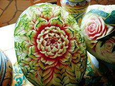 creative watermelon carving