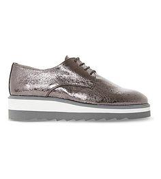 DUNE   Faryl metallic flatform brogues #Shoes #Flats #Brogues #DUNE