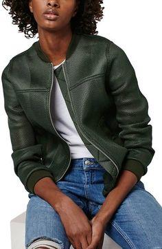 Must haves I fashion wishlist I trend I sporty style I green baseball jacket I Topshop 'Airtex' Bomber Jacket @monstylepin