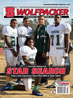 The March 2015 issue of The Wolfpacker features our new 5 in-state recruits on the cover.  The future of NC State football appears bright after head coach Dave Doeren signed a strong 22-player recruiting class headlined by five in-state, four-star prospects. The Wolfpacker has the class covered from every corner, including the most in-depth capsules on each player inked by the Pack.  We also have a feature on freshman forward Abdul-Malik Abu and a preview of football's spring practices.