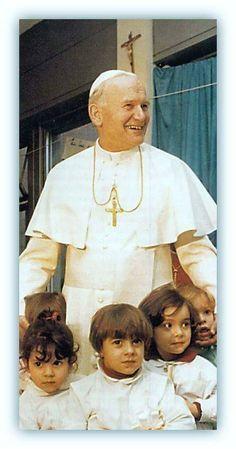 San Juan Pablo II... dejen que los niños se acerquen a mí.