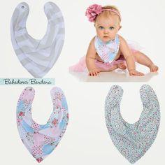 Amei esses babadores: estilosos e com estampas lindas by Biramar Baby.