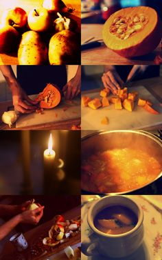 Sweet & Spicy Pumpkin Soup with Apples & Coriander
