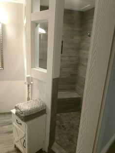 Love this shower . can still see tile without all the glass to clean - Master Bathroom Shower - Badezimmer Large Bathrooms, Dream Bathrooms, Amazing Bathrooms, Bathroom Renovations, Home Remodeling, Bathroom Ideas, Shower Ideas, Bathroom Showers, Budget Bathroom