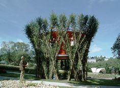 As the trees on this treehouse grow, its structure grows stronge