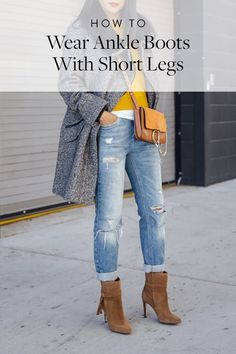 How to Wear Ankle Boots with Short Legs #anklebootsoutfit
