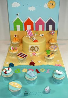 Beach Scene Birthday Cake by The Clever Little Cupcake Company (Amanda), via Flickr