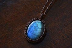 Macrame necklace macrame pendant macrame by EarthCraftHandmade