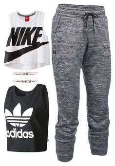 """""""Untitled #15"""" by sarahszejn on Polyvore featuring NIKE, Under Armour and adidas"""