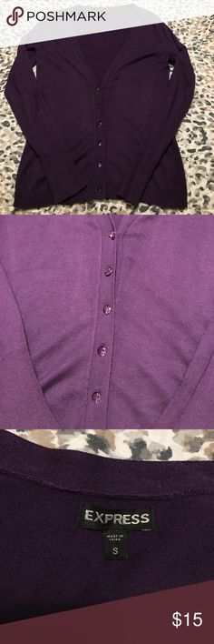 Express long sleeve purple cardigan.  Size small Express long sleeve purple cardigan.  Size small Express Sweaters Cardigans