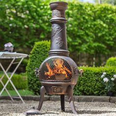 For outdoor items, weathering may occur over time as the item is exposed to wind, rain and other natural elements. Please see our product maintenance guides to help you protect your product. Chiminea, Vine Design, Wood Burner, Seasons Of The Year, Outdoor Settings, Grape Vines, Fours, Bronze, Exterior