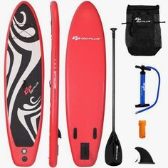 Goplus Inflatable Stand up Paddle Board Surfboard SUP Board with Adjustable Paddle Carry Bag Manual Pump Repair Kit Removable Fin for All Skill Levels, Thick Best Inflatable Paddle Board, Inflatable Sup, Fishing Cart, Kayak Fishing, Fishing Stuff, Berkley Fishing, Sup Stand Up Paddle, Weight Bags, Sup Boards