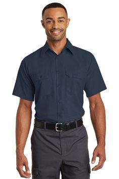 Red Kap Short Sleeve Solid Ripstop Shirt SY60 Navy