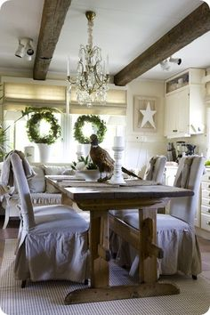 Dining room for the Holidays