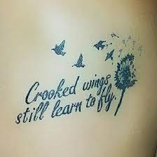 not broken just bent - scoliosis tattoo