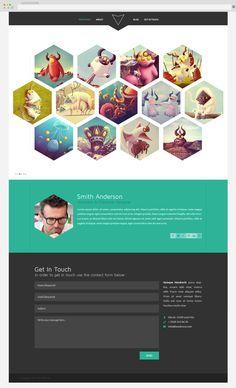 Free Hexagon Portfolio PSD Template Free! #premiumpsd #premiumwebsitetemplate #psdtemplate #singlepage #webelements #PSD #websitetheme
