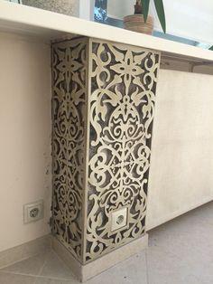 Column laser cut decor