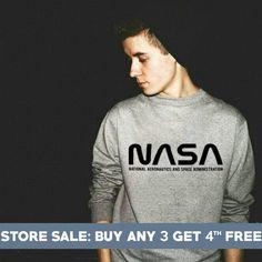 Nasa Sweatshirt. Funny Graphic Shirts Tumblr Hipster Sweater Fashion Sweatshirts Pullover Sweater Wo