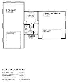 Garage Plan chp-53299 at COOLhouseplans.com