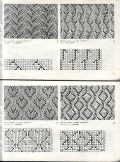 Punti stitch pattern lace openwork