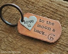 Love You To The Moon & Back  Hand Stamped by jessicaNdesigns, $29.00