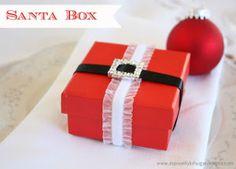 Santa Gift Box   AllFreeChristmasCrafts.com