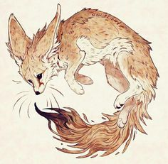 I'm glad people are enjoying this new style, also the red fox drawing take less time to be finished than usual what is great… Animal Sketches, Animal Drawings, Cute Drawings, Pretty Art, Cute Art, Fuchs Baby, Fox Drawing, Fennec Fox, Illustration Art