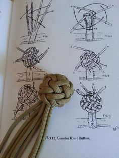 From the blueprint to the finished product love this image tied by dman based off of the reference from bruce grant s encyclopediaThe Gaucho Knot - link bad, but pretty knotFree info on all government grants U. Grants available for individuals, small Rope Knots, Macrame Knots, Ideias Diy, Paracord Projects, Macrame Tutorial, The Knot, Paracord Bracelets, Leather Projects, Celtic Knot