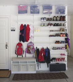 simply organized: Simple DIY: Garage Mudroom