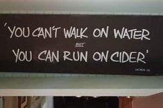 'You can't walk on water, but you can run on cider' The Apple cider barge, Bristol