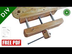 Wooden Bench Vise making / free PDF plan / DIY - YouTube Workbench Plans Diy, Woodworking Bench Vise, Diy Woodworking, Youtube Woodworking, Shop Dust Collection, Diy Wood Bench, Making A Bench, Homemade Tools, How To Make Diy