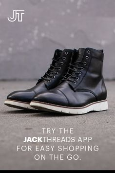 JackThreads is the destination for everything a guy needs to style smart. Try anything on at home for free. Only pay for what you keep. Free shipping both ways- always. Sock Shoes, Shoe Boots, Casual Boots, Men Casual, Fashion Shoes, Men's Fashion, Man Shoes, Jack Threads, Men's Footwear