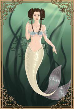 Mermaid Princess Leia by LadyIlona1984 on deviantART