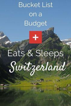 Bucket List on a Budget: Switzerland Food & Lodging tips that make NOT break the travel budget. via @https://www.pinterest.com/Captiv8Compass/