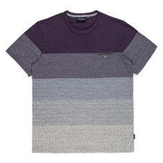 Paul Smith - Purple Gradient Stripe T-Shirt...
