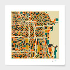 """Chicago"" - Numbered Art Print by Jazzberry Blue on Curioos"