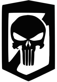 Daredevil Punisher, Punisher Logo, Punisher Skull, Skull Stencil, Skull Art, Skull Flag, Leather Working Patterns, Badass Skulls, Dark Comics